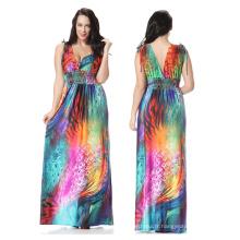 Usine de polyester Premium directement vente de mode féminine Casual Dresses