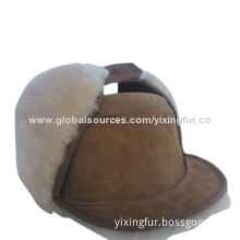 Wholesale thicken sheepskin children's winter hat with long wool, earflap, outdoor sport use, OEM