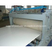Línea de producción rígida del tablero de la espuma del PVC Celuka / maquinaria plástica de la protuberancia