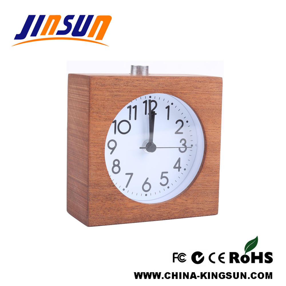 Wooden Alarm Clock With Snooze