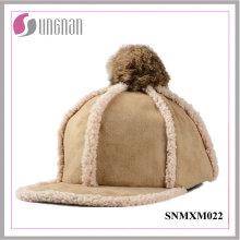 Chapeau à capuchon coréen chaud belle Hiphop chapeau en peluche boule de fourrure (SNMXM022)