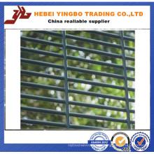 Anti-Climb galvanizado de acero soldado de alta seguridad malla de alambre de valla