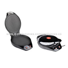 Electric BBQ Grill and Pancake Maker with Two Various Independently Working Heating Plates
