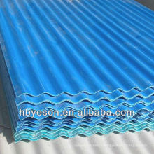Feuille de toiture ondulée prépintée