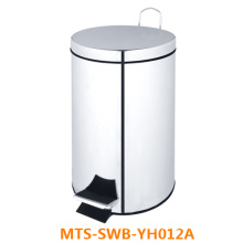 Round Shape Stainless Steel Trash Can/ Pedal Bin/ Foot Control Dustbin