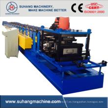 Personalizar Ce & ISO calidad acero galvanizado automático C Purlin rollo que forma la máquina