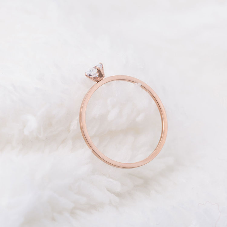 Rose Gold Cubic Zirconia Rings