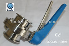 Stainless Steel Clamp Silicone Butterfly Valve