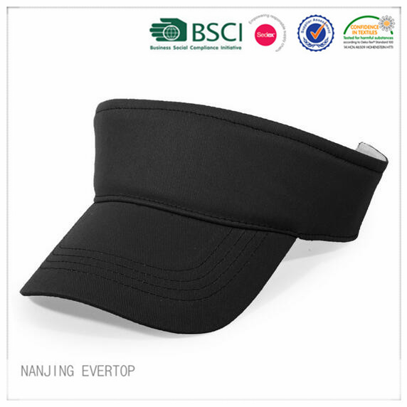 BSCI Cheap Black Light Cotton Twill Visor