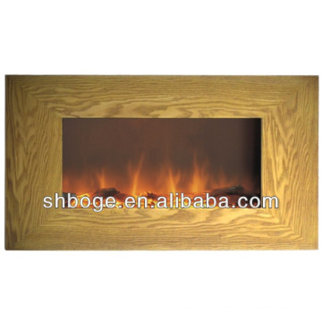CE passed MDF Wall Mounted wooden Electric Fireplace