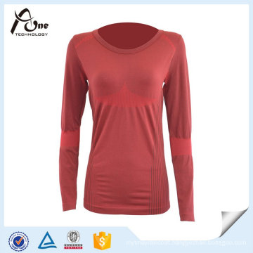 Breathable Mature Lady Thermal Shirts for Wholesale