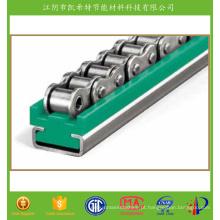 Guias de corrente de rolo reforçado com fibra de vidro