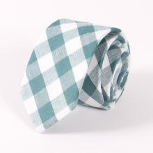 Cravate en coton classique en plaid