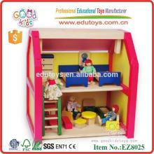 Hölzernes Puppenhaus Spielhaus Spielzeug