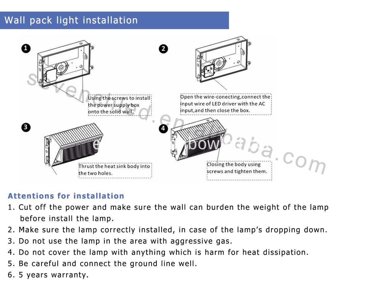 led wall pack installation
