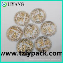 Hot Stamping Foil para plástico redondo, folha de ouro