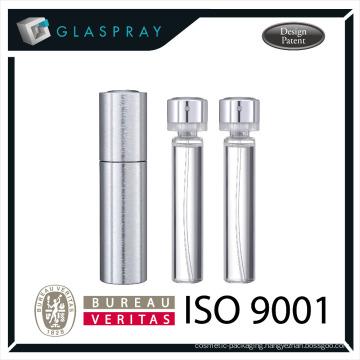 KIRA CNC Twist and Spray 20ml Brushed Silver Luxury Perfumery Spray
