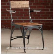 Chaise de siège en bois industrielle