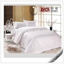 100% Algodão Atacado Hotel Bed Linen Jacquard White Bedding Sets