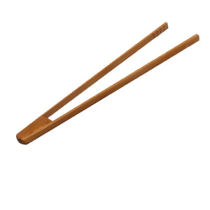 Wood toast BBQ tongs ice tea tong