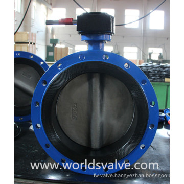 Double Flange Resilient Seated Butterfly Valve