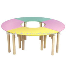 Desk for Kindergarten Use, with Colorful Table Top