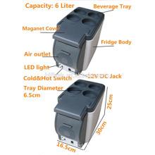 HF-600B (101) 12 V AC 220 V portable mini vente chaude voiture et maison double usage cool et chaud double usage voiture réfrigérateur (certificat CE)