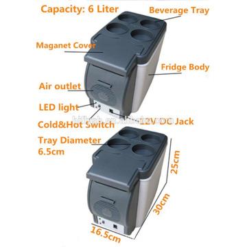 HF-600B (101) 12 V AC 220 V tragbare mini heißer verkauf auto und hause doppelnutzung cool und heiß doppelgebrauch auto kühlschrank (CE zertifikat)