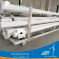 Galvanized steel solar street light pole