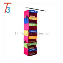 Good quality Non Woven Fabric Foldable Hanging Closet shoes Organizer 7 shelf