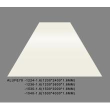 Строительная плита PVDF матовые кремовые алюминиевые листы
