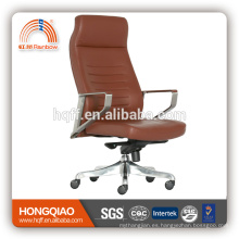 CM-B195AS high back leather/PU swivel lift stainless steel armrest office chair