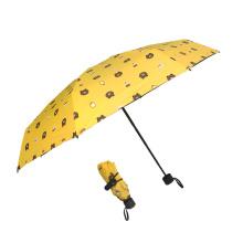 5fold 8ribs super tiny sunshade mini pocket capsule umbrella with custom logo design prints