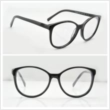 Acetate Eyewear Frames Round Frames for Unisex (CN3213 Black)
