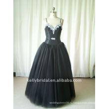черный тюль с кристалл бисероплетение вечернее платье мода 2012 100_9111