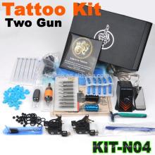 Nouveau kit professionnel de tatouage professionnel avec 2 pistolets