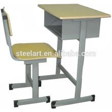 Conception de cadre en métal haut en bois de la table d'étude et des ensembles de chaise