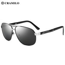 Os óculos de sol clássicos dos homens do estilo militar superior polarizaram a proteção UV de 100%
