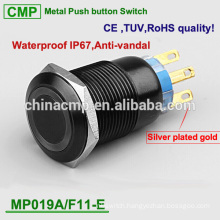 CMP SPDT/DPDT 19mm black switch with ring LED