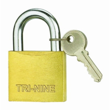 Middle Thick Brass Padlock Sand Polish (BS350)
