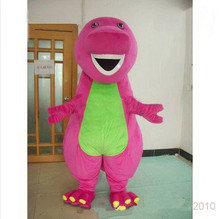 New Arrival Barney Dinosaur Mascot Costumes Halloween or Christmas Supply Cartoon Character Adult Size