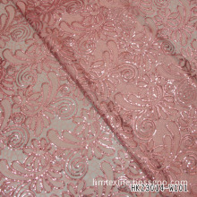 Cord Embroidery Fabric with Pet Sequin for Lady Apparel