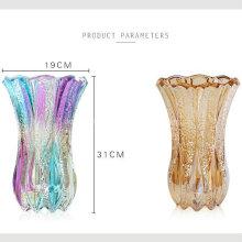 Vase en verre taché de haute qualité pour la décoration intérieure