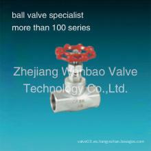 Acero inoxidable 316 Tipo de rosca Globe Valve 200psi