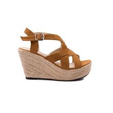 Cow Suede Ladies Fashion Sandals Wedges