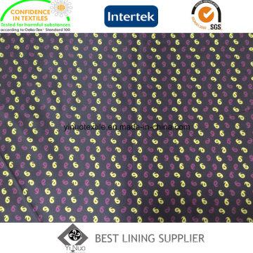 100 padrões de forro de impressão de terno de jaqueta de homens de poliéster
