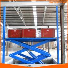 plate-forme hydraulique d'ascenseur pour l'entrepôt d'usine