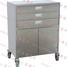 Stainless steel Medicine trolley