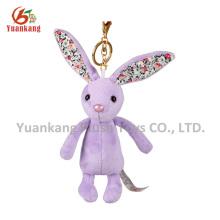 Long ear stuffed toy plush bunny keychain