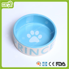 Fashion Design Dog Footprint Ceramic Pet Bowl